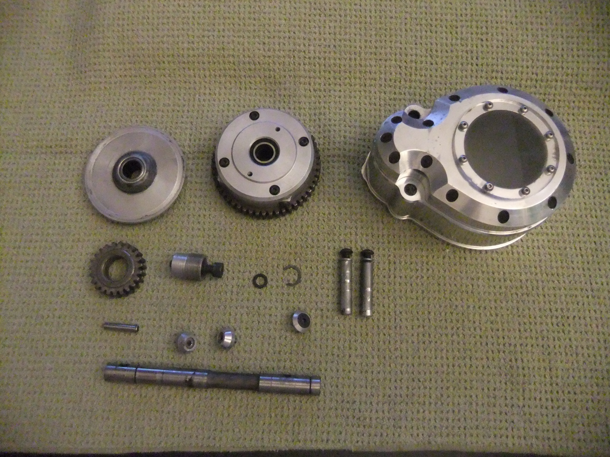 HPI Baja 5T Baja Skunkworks 2 Speed (23/ 51 gearing) and a Python Motorsports Billet Aluminum 2-Speed Gear Cover