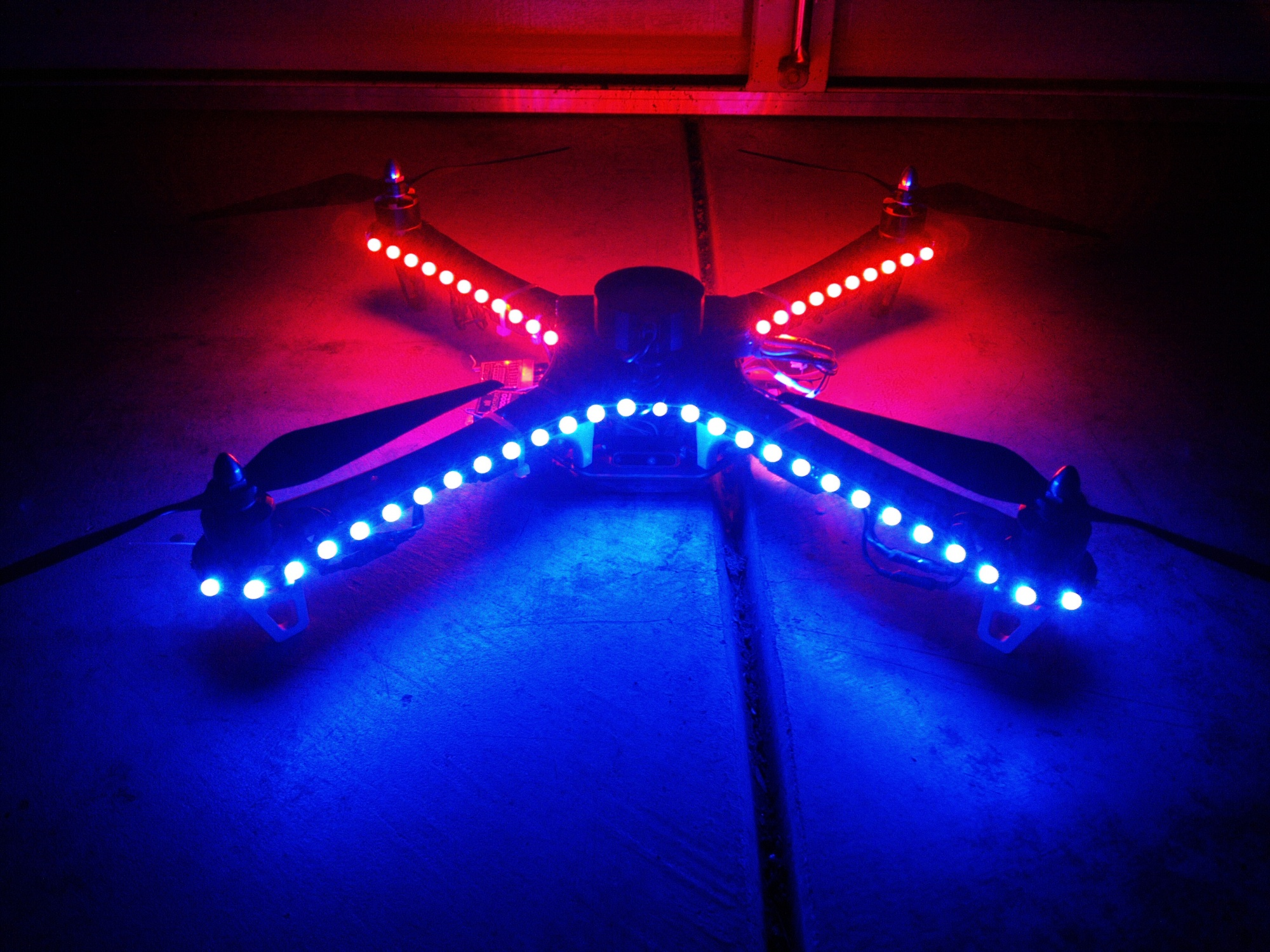 DJI F450 Flame Wheel Multirotor LED Lights